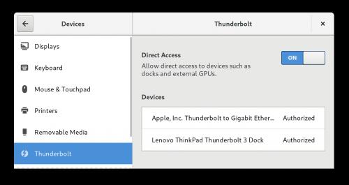 The state of Thunderbolt 3 in Fedora 28 by Christian Kellner